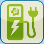 image icon of a electric vehicle charging station and plug