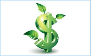 image of a green dollar sign with leaves sprouting