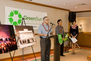 Speakers at the GreenSun Hawaii news conference