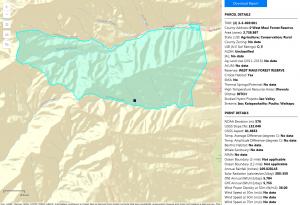 Screenshot of EnerGIS mapping tool