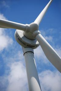 Photo: Close up of wind turbine