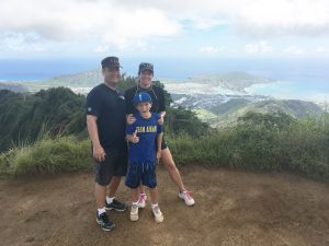Photo of Chris on mountain top in Hawaii