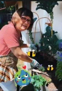 Photo of Susan in her garden