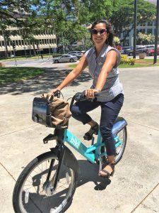 Photo of June riding Biki
